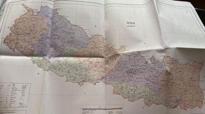 New political map of Nepal includes all territories that Nepal claims